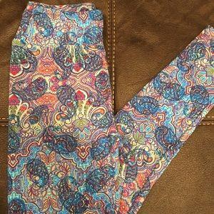 LuLaRoe one size, paisley leggings